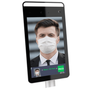 Tablet for mask wearing control